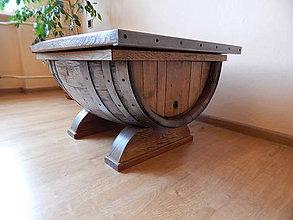 Nábytok - Sudový stolík (Wine barrel table)  (1.) - 9330144_