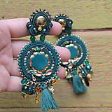 Náušnice - Emerald&Gold- sutaškové náušnice  - 9329653_