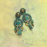Náušnice - Emerald&Gold- sutaškové náušnice - 9329659_