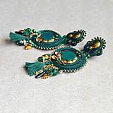 Náušnice - Emerald&Gold- sutaškové náušnice  - 9329660_