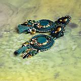 Náušnice - Emerald&Gold- sutaškové náušnice  - 9329661_