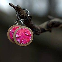 Náušnice - Náušnice Klipsne visiace Ružový neón - 9330765_