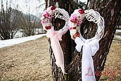 Dekorácie - Svadobné venčeky Nevesta-Ženích - 9331167_