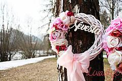 Dekorácie - Svadobné venčeky Nevesta-Ženích - 9331168_