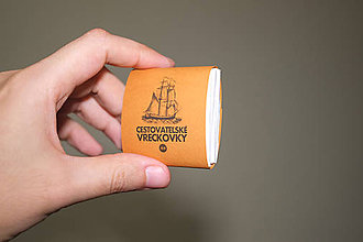Papiernictvo - Cestovateľské vreckovky - 10 balení - horčicovohnedý obal - 9329863_