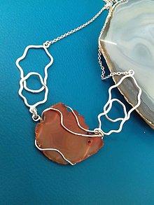 Náhrdelníky - náhrdelník s minerálom - 9331667_
