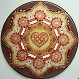Dekorácie - Mandala...šťastie v láske - 9329038_