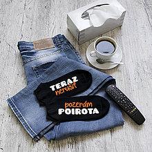 """Obuv - Členkové ponožky """"Pozerám Poirota"""" - 9331870_"""