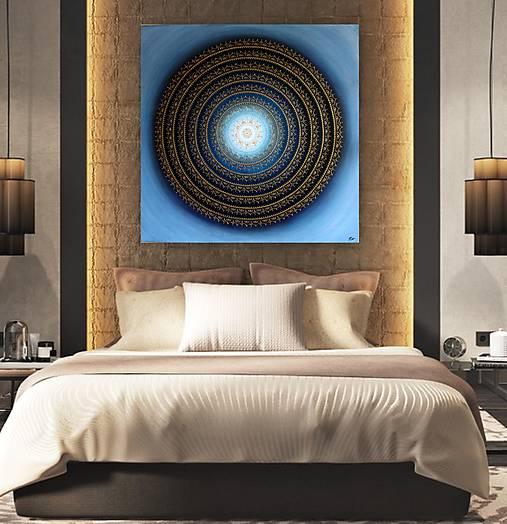 Mandala KVET ŠŤASTIA biely 100 x 100 (80 x 80 cm)