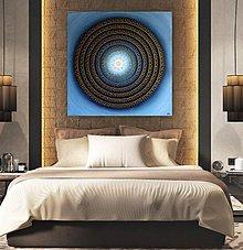 Obrazy - Mandala KVET ŠŤASTIA biely 100 x 100 (90 x 90 cm) - 9328852_