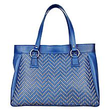 Kabelky - Ručne vyšívaná modrá kabelka z pravej kože - šedé vyšívanie - 9332079_