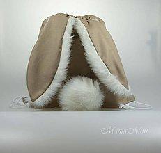 Detské tašky - batôžtek - hnedý zajko - 9332324_