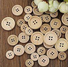 Galantéria - Gombík drevený štvordierkový - 9328420_