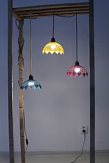 Svietidlá a sviečky - Háčkovaná lampa - Dotyk Jari - 9331782_