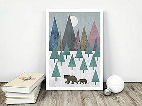 Grafika - Medvede zo Škandinávie - 9330689_