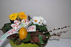 Dekorácie - Veľkonočná krabička (2 vajíčka - sviečky) - 9331106_