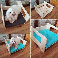 Pre zvieratká - Drevený pelech pre psíka, posteľ 40cm - 9328744_