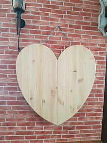 Dekorácie - Srdce z dreva 60 x 60cm - 9329101_