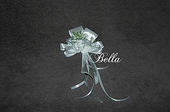 Pierka - Bielo strieborné pierko pre ženícha / rodičov - 9332027_