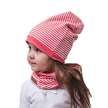 Detské čiapky - čiapka dvojvrstvová KORAL STRIP - 9331355_