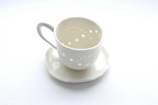 Madeirová espresso šálka Vlnky