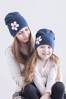 Detské čiapky - Pružná čiapka s kvetom - 9328697_