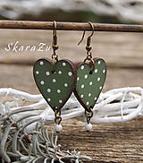 Heart dots // Olive