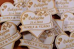 - Svadobná magnetka drevená gravírovaná 150 - 9328490_