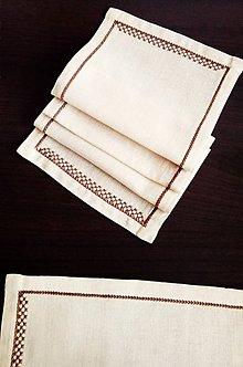 Úžitkový textil - Vyšívané prestieranie - caffé latté - 9332542_