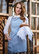 Iné oblečenie - Zásterka zo Zeleného domu Modrá - 9332192_