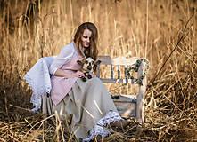 Iné oblečenie - Zásterka zo Zeleného domu Ružová - 9332214_