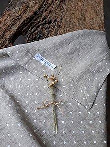 Úžitkový textil - Ľanový obrus Dot's Everywhere - 9331992_
