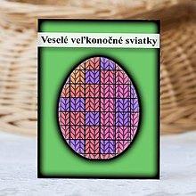 Papiernictvo - Geometrické veľkonočné vajíčko štrikované - štvorčeky - 9331438_