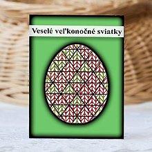Papiernictvo - Geometrické veľkonočné vajíčko štrikované - trojuholníky - 9332291_