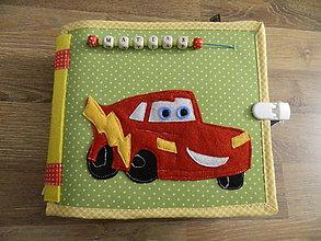 Hračky - textilná knižka cars - 9334374_