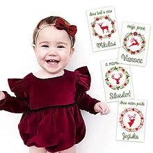 Detské doplnky - Miľníkové kartičky Christmas 4ks - 9332855_