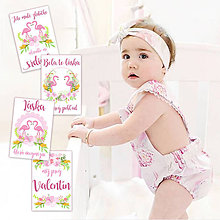 Detské doplnky - Valentínske míľnikové kartičky 4ks - 9333163_
