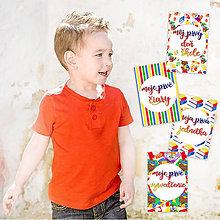 Detské doplnky - Míľnikové kartičky - Pre Prváčikov 24ks - 9333249_