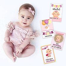 Detské doplnky - Miľníkové kartičky /doplňovacie/ Super-Dcérka 28ks - 9333596_