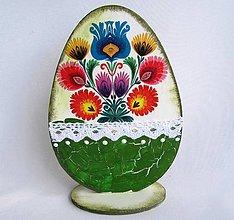 Dekorácie - Drevené vajíčko-ornamentové - 9336658_