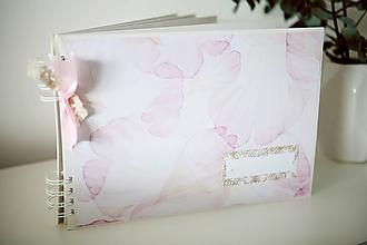 Papiernictvo - Kniha hostí / svadobný fotoalbum - 9335803_