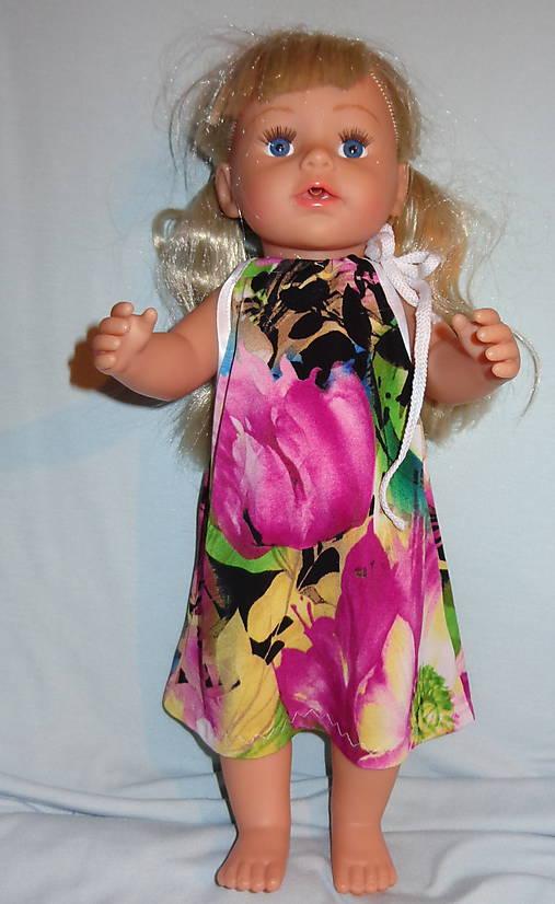 Letné šaty pre baby born sister 43 cm   mwm - SAShE.sk - Handmade Hračky a61e1073f84