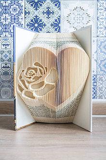 Dekorácie - ruža v srdci (ruža v srdci bez mena) - 9335786_