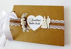 Papiernictvo - svadobná kniha hostí - 9333009_