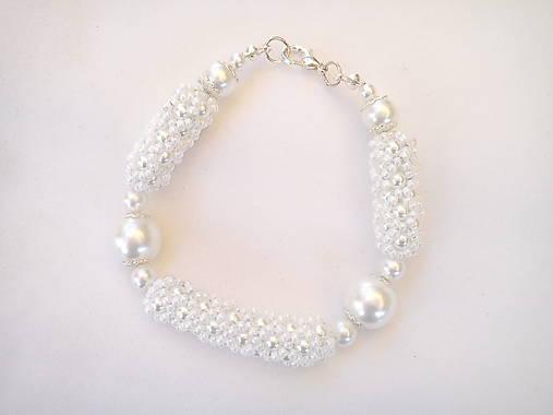 Náramok - perleťový/svadobný