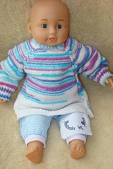 Detské oblečenie - Ručne pletený svetrík pre ročne dieťatko - 9336355_