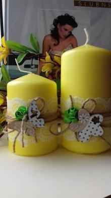 Svietidlá a sviečky - dekoračné sviečky ,, sada ,, - 9333999_