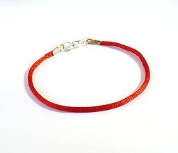 Náramky - Červený náramok 3 - 9336597_