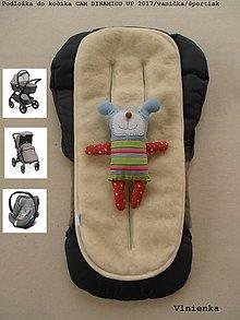 Textil - Podložka 3 v 1 do vaničky a športového kočíka Cam Dinamico 100% merino na mieru - 9334342_