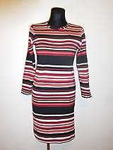 Šaty - Nepravidelné proužky - 9333637_